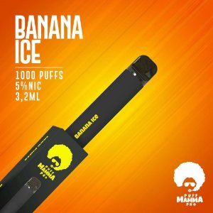 Pod descartável Puff Mamma - Pro - 1000 Puffs - Banana Ice