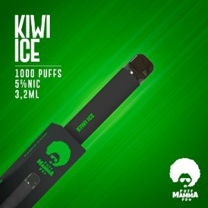 Pod descartável Puff Mamma - Pro - 1000 Puffs - Kiwi Ice