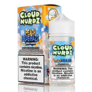 Líquido Peach Blue Razz Ice - CLOUD NURDZ