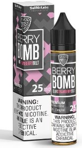 Líquido Sour Strawberry Belt Iced Salt - Berry Bomb - VGOD