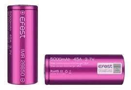 Bateria 26650 - Efest Purple - Efest  3.7V 5000 MAh 45A