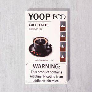 Yoop Pods Cofee Latte - Compatíveis com Juul - Yoop Vapor