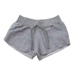 Shorts Infantil de Moletom Mescla