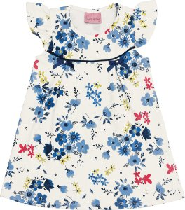 Vestido em Cotton Leve Floral