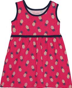 Vestido Bebê Abacaxi Vermelho