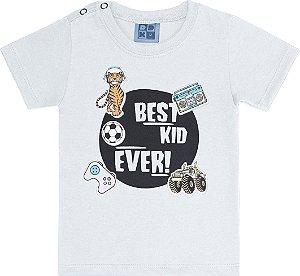 Camisa Branca Bebê com Estampa Best Kid