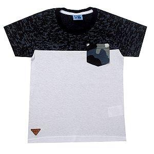 Camisa Malha com Bolso Frontal Preto