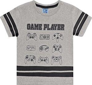 Camisa Meia Malha Estampada Mescla Game Player