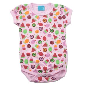 Body Cotton Leve Rosa Estampado