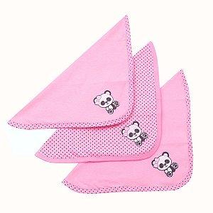 Kit Cheirinho Panda Pink Pano Duplo