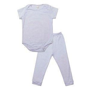 Conjunto Body com Calça de Ribana Branco