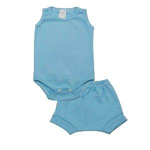 Conjunto Body Regata e Tapa Fralda de Ribana Azul