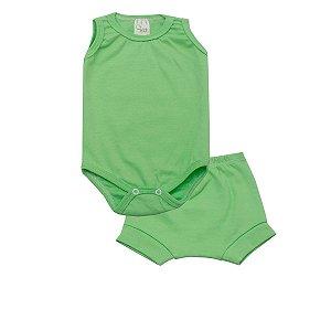 Conjunto Body Regata e Tapa Fralda de Ribana Verde