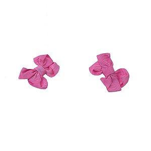 Kit Laço Bico de Pato Pink para Bebê