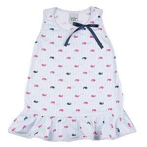 Camisola Infantil de PV com Estampa Baleia
