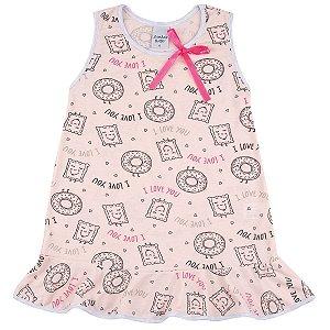 Camisola Infantil de PV com Estampa Rotativa Biscoitos