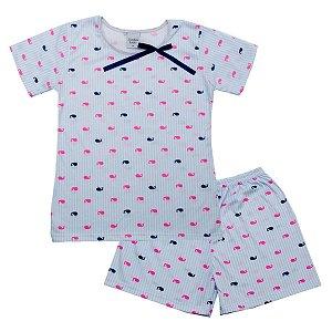 Pijama Juvenil de Malha PV Baleia