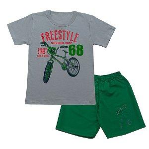 Conjunto Infantil Freestyle Cinza