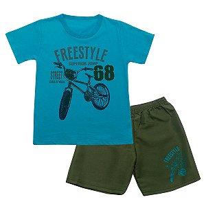 Conjunto Infantil Freestyle Turquesa