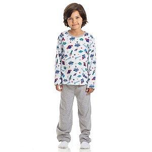 Conjunto Pijama Meia Malha Space