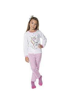 Pijama Unicórnio Meia Malha