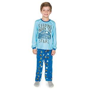 Pijama Meia Malha Sleeping Royal