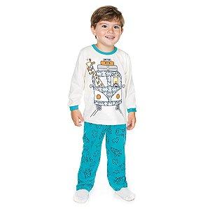 Pijama Meia Malha Marfim