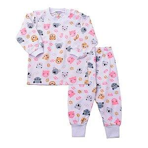 Pijama Meia Malha Gatos