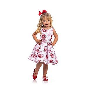 Vestido de Festa Rosas Vermelhas