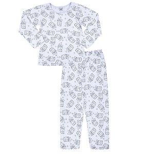 Pijama Pipocas Branco