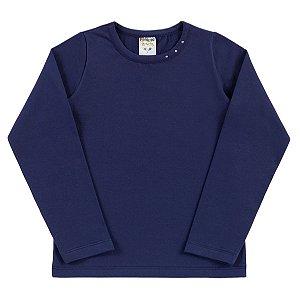 Blusa Cotton Strass Azul