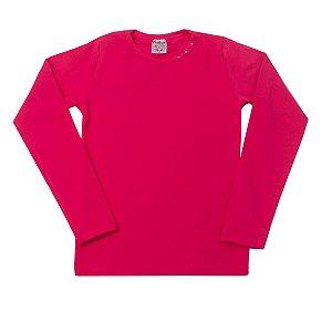 Blusa Cotton Strass Pink