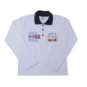 Camiseta Gola Pólo Branca