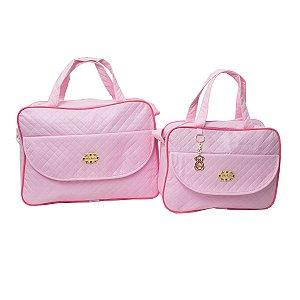 Kit Bolsas Maternidade Rosa