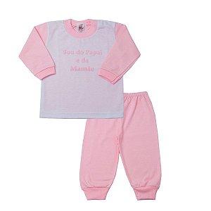 Pijama Sou do Papai e da Mamãe Rosa