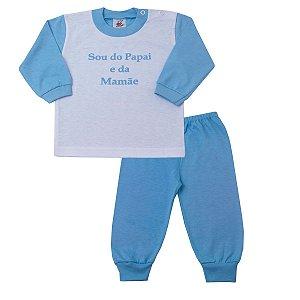 Pijama Sou do Papai e da Mamãe Azul