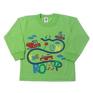 Camisa Manga Longa Carros Verde