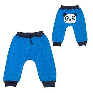 Calça Saruel Azul Urso Panda