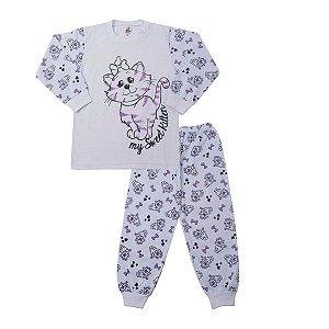 Pijama Gatinho Brilha no Escuro