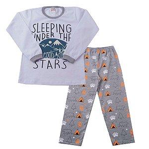 Conjunto Pijama Stars Brilha no Escuro Meia Malha
