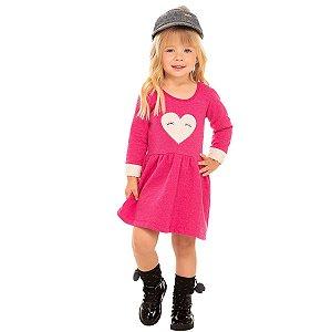 Vestido Moletom Botonê Pink