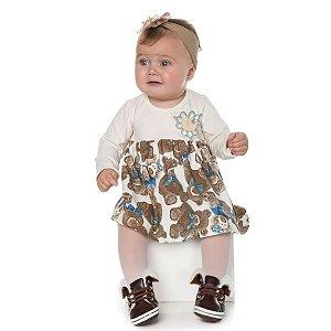 Vestido de Cotton Urso