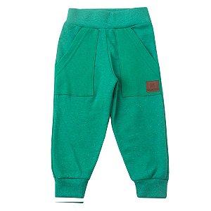 Calça Moletom Botonê com Bolso Sobreposto Verde