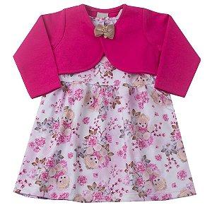 Vestido Elanca com Bolero em Molecotton Pink