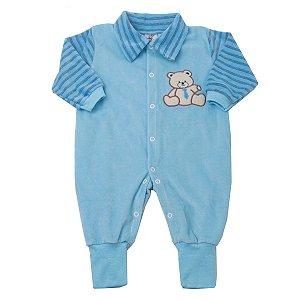 Macacão Plush Urso Azul