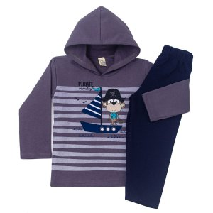 Conjunto Moletom Monkey Pirate Cinza
