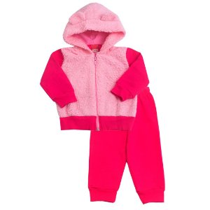 Conjunto Moletom Pêlo Rosa Pink