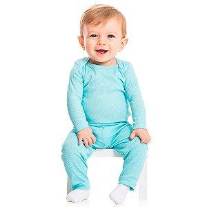 Conjunto Body e Calça Ribana Azul
