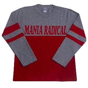 Camisa Manga Longa Mania Radical Vermelho