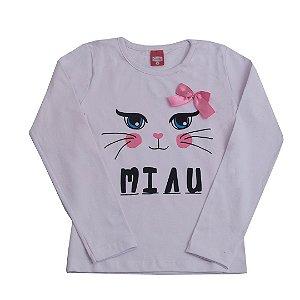 Blusa Manga Longa Miau